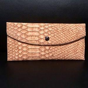 Handbags - New Snakeskin Print Wallet!